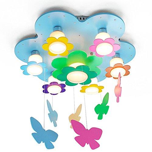 ZHANGRONG-Gute Qualität-- Moderne minimalistische bunte Kinderzimmer Lichter Energie sparende Deckenlampe Schlafzimmer Eye Lamp LED Mädchen Blume Lampe (E27 * 7) --Efficiency:A+++ ( Farbe : LED 3W Bulb - Warm Light )