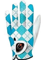 Easy Glove British_checkered-Blue-w Gant de Golf Femme