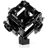 Koolertron Professionnel 360 degrés Panoramique / Sphérique Caméra Support Vidéo Mount / Rig Plate-forme en Aluminium Anodisé Support jusqu'à 6 Caméras pour GoPro Hero 3 3+ 4 (Noir)