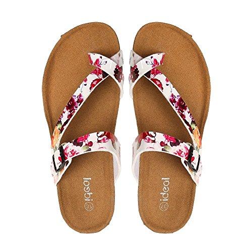 Ideal Shoes–wie barfuß, ortopädisch, Fanelia Weiß - weiß
