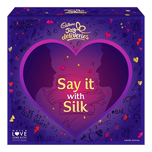 Cadbury Dairy Milk Silk Valentine Limited Edition AR Enabled Gift Box, 500g