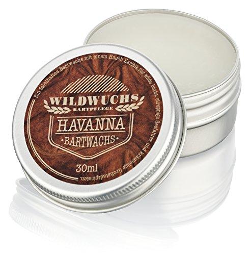 Wildwuchs Bartpflege Bartwachs Havanna Beard Balm Pomade Wax Wachs (1 x 30 ml)