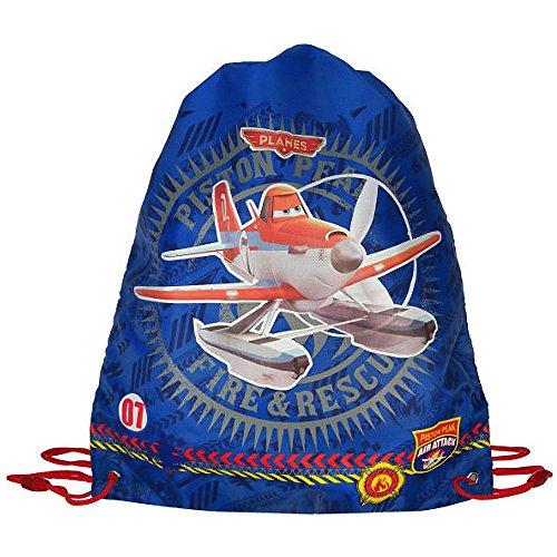 Disney Planes - Kinder Jungen Sportbeutel Turnbeutel Schule 42x36cm