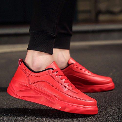 FEIFEI Scarpe da uomo Inverno Per il tempo libero Moda scarpe con fondo marea spesso 3 colori ( Colore : Nero , dimensioni : EU39/UK6/CN39 ) Rosso