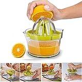 SXWYZ Manueller Squeezer, 4 in 1 Citrus, Zitrone orange Juicer manuelle Hand Squeezer, Multi-Reibahlen für Filter Eiklar mit Ingwer Knoblauch-Raspel und Messbechern