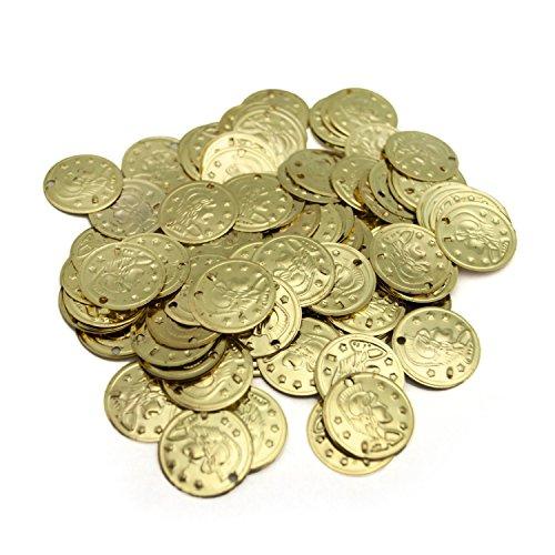 Münzen,gold,Bauchtanz Bastelmünzen basteln 20mm, ca.100 Stk - Gold Münze