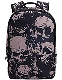 1481ddfbdb OULII Unique Skull Print Students School Backpacks for Teenage Boys Girls  Laptop Bags
