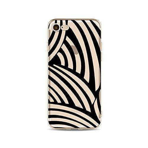 Coque iPhone 7 Housse étui-Case Transparent Liquid Crystal en TPU Silicone Clair,Protection Ultra Mince Premium,Coque Prime pour iPhone 7-ligne-style 14 6