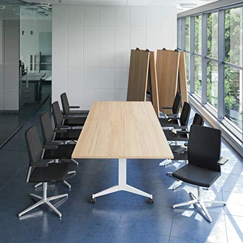 WeberBÜRO Falttisch Klapptisch 3.200 x 1.200 mm Timmy Bernstein-Eiche Konferenztisch klappbar...