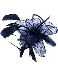 Women Hair Clip Facinator Feather Rose Flower Hemp Hair slide Wedding Accessory