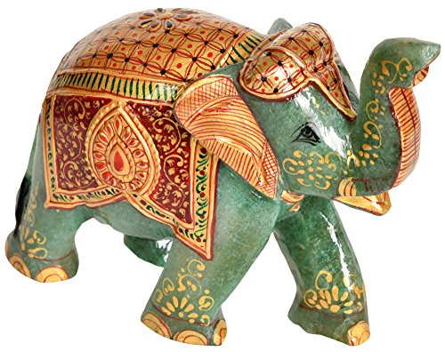 decorated-elephant-with-upraised-trunk-carved-in-jade-gemstone-gemstone-sculpture