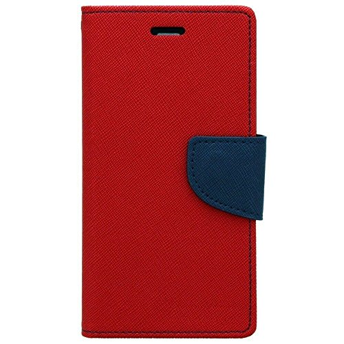 ACASE Premium Fancy Wallet Diary Faux Leather Mobile Flip Case Cover [Pouch] with Card Slots [POCKETS] , Stand View and Magnetic Strap [LOCKING] for Apple Iphone 4G/4S-(Red)  available at amazon for Rs.245