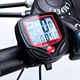 Strauss Bicycle Speedometer, (Black/Red)