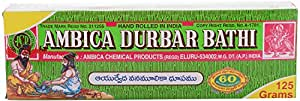 Ambica Agarbathies Bamboo Incense Sticks (125g, 100 Sticks)