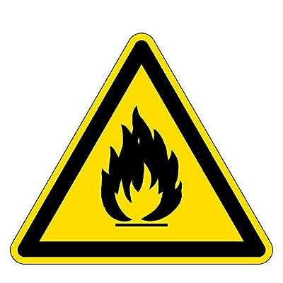 Warnzeichen - Warnung vor feuergefährlichen Stoffen - Kunststoff Selbstklebend