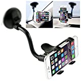 360°Support de Téléphone ,iVoler Support Voiture Universal Ventouse Long Bras Support Pare-Brise Holder Smartphone pour iPhone X / 8 / 8 Plus / 7 / 7 Plus / 6(s) / 6(s) Plus / SE / 5s / 5, Samsung Galaxy S9 / S9+ / S8 / S8+ / S7 / S7 Edge / S6 / S5, Huawei, LG, Nexus, Motorola, Sony, Wiko, GPS, MP3 Player et les autres Smartphone - Noir