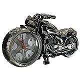 EsportsMJJ Creative Plastic Motorcycle Motorrad Quarz Wecker-Schwarz
