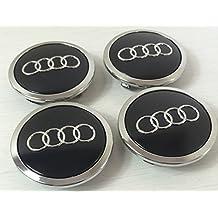 Juego de chapas de 4 Audi aleación rueda central tapacubos negro 69 mm 4B0601170 A S3