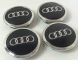 Set von 4 Radkappen Audi Leichtmetallrad Badges Central Schwarz 69 mm 4b0601170 a S3 S4 A2 A3 A4 A6 A8 TT RS4 Q5 Q7, S3 S4 S6 RS6 TT S line alle Road und weitere Modelle