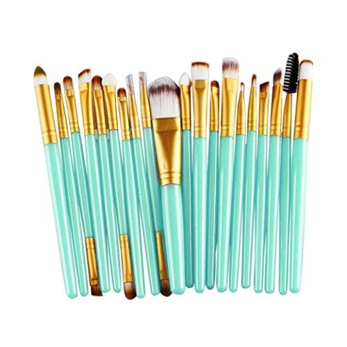 Vovotrade® 20 pezzi di spazzola di trucco make-up strumenti da toeletta del corredo di lana di spazzola di trucco (oro)