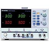 GW Instek GPD-3303D - Fuente de alimentación de corriente continua lineal (programable, triple toma de salida, 30 V CC, 3 amp, 100 mV, resolución 10 miliamp, 195 W)