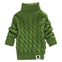 Nine Minow Boys Girls Turtleneck Sweaters Soft Warm Children