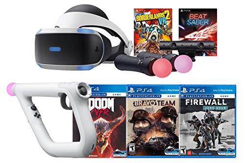 Playstation 4 VR FPS Aim Controller Deluxe Bundle: Borderlands 2 VR, Firewall, Zero Hour, Doom VFR, Bravo Team, Beat Saber, Playstation VR Headset mit Motion Controller