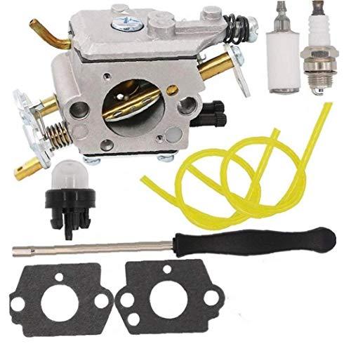 PP5020AVX Vergaser Kit mit Adjustment Tool für Poulan Pro PP5020AV PP5020 Kettensäge 2 Stroke PP4818A Gas Kettensäge 573952201 573 95 22-01 Craftsman 358,350981 358,350982 Zama C1M-W47 Chainsaw Parts -