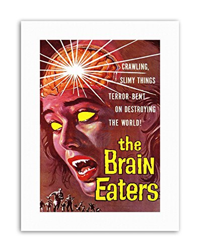 Wee Blue Coo LTD Brain Eaters SCI FI Horror Alien Nelson USA Poster Film Canvas Art Prints
