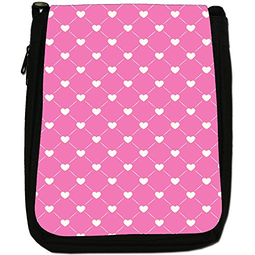 Fancy A Snuggle, Borsa a spalla donna Quilted Effect White Hearts