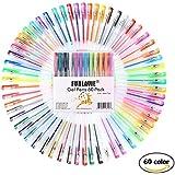 Bolígrafos Multicolores de Tinta Gel para Colorear Dibujar Escribir Diseñado para Adultos / Niños Paquete de 60 FUNLAVIE