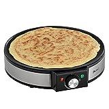 [in.tec]® Crepes Platte Crepe Maker - inkl. Crepes-Wender Wrapmaker Pfannkuchen-Pfanne Omelette Wrap 1200W - 220-240V - 50-60Hz