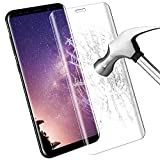 Samsung Galaxy S8 Plus schutzfolie , Samione 3D Full Coverage Galaxy S8 Plus Glass Panzerglas 9H Härtegrad Anti-Kratz Displayschutzfolie Schutzfolie Screen Protector Für Samsung Galaxy S8 Plus - transparent 1 Pack
