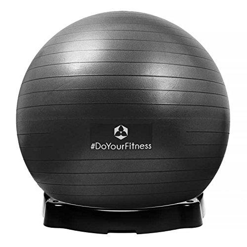Gymnastikball »Orion« inklusive Ballschale / Robuster Sitzball und Fitnessball / 85 cm / schwarz inklusive Sitzschale