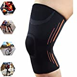#3: AGE CARE Brace Support, Knee Compression Sleeve Basketball Knee Protector Elastic Sports Sleeve Running Knee pads for Sports, Running, Jogging, Basketball And Joint Pain Relief and Injury Recovery (L)