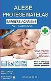 Alése protège-matelas Imperméable 60 - 90 -140 -160 -180 cm Anti-Acariens Anti-Allergique LOT 2 Taies 63X63cm (90X190) Idéal incontinence