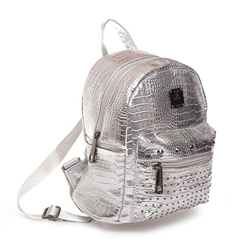 The fashion bags, Borsa a zainetto donna argento