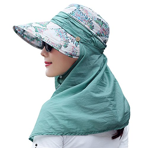 Yimidear® Faltbare Sommer Sonnenhut Weiblicher Hut Baseball Kappe Frauen Anti-UV Hut (Green) Green Baseball-kappe