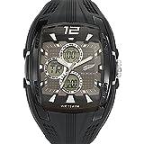 All Blacks - 680055 - Montre Homme - Quartz Analogique - Digital - Cadran Gris - Bracelet Plastique Noir