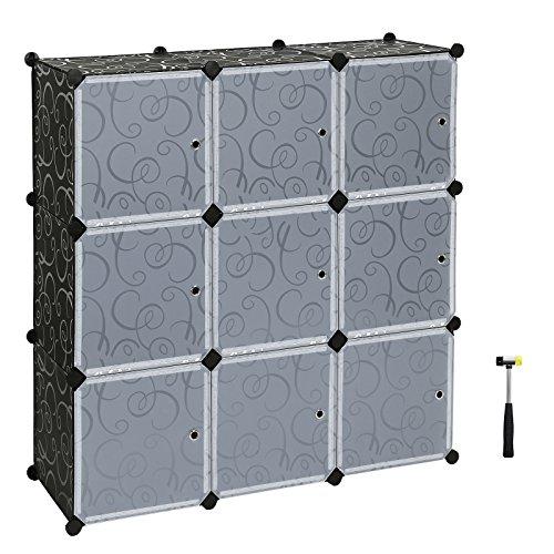 Songmics Armario plegable de almacenaje Organizador modular Con puertas LPC116