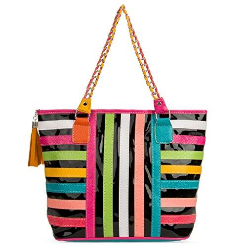 VanGoddy Harmony Classique Fashion en Toile Sac à main Fourre-tout Shopper (Style 104) Style 107