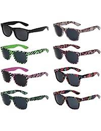 8er Pack X-CRUZE® Nerd Sonnenbrillen Vintage Retro Style Stil Unisex Herren Damen Männer Frauen Brillen Nerdbrille