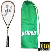 Prince TT Sovereign Squash Racket + Dunlop Pro Squash Balls