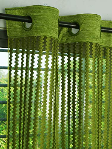 check MRP of sheer curtains green Story@Home