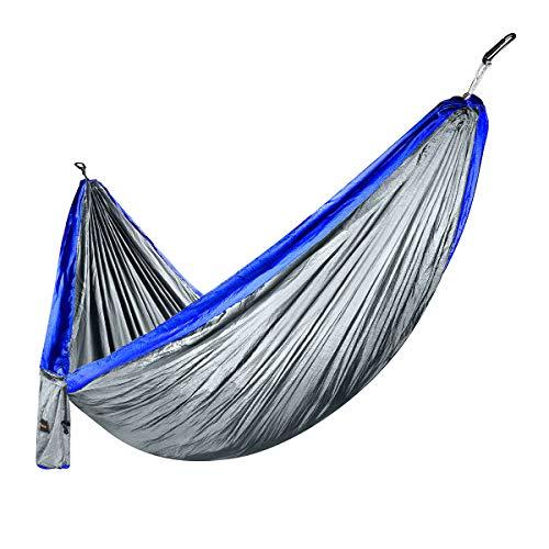 isYoung Hängematte Mehrpersonen 300 x 180 cm, Belastbarkeit bis 300 kg, Blau