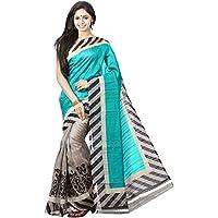 Fabdiamond Cotton Silk Saree (Blus Zraa_Blue)