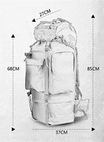 GOUQIN Zaino Outdoor Classico Moda Arrampicata Outdoor Bags 100L Di Super-Grande Capacità Di Zaini Borsa Da Viaggio A Piedi, Tre Zaino Sha Verde
