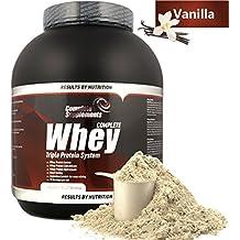 100% Triple Whey Protein Powder Premium Complete Supplements (Vanilla, 2,27kg)