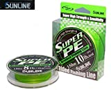 DYNEEMA SUPER PE SUNLINE 10lb 0.165mm 150mt kg5 color Green MADE IN JAPAN