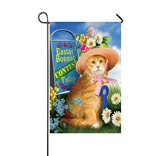 sss Garten Flagge, Ostern Motorhaube Contest Garten Flaggen Decor, Funny orange Katze Home Garden Flagge One-seitige Flagge 31,8x 45,7cm (Halloween Contest Ideen)